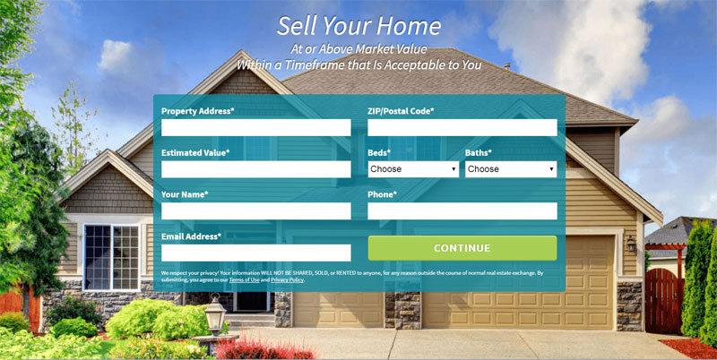 Home Seller Screen Form