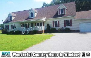Front of home located at 17449 Carroll Bridge Rd, Isle of Wight County VA, 23487