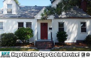 Front of home located at 3800 Wayne Circle, Norfolk VA, 23513