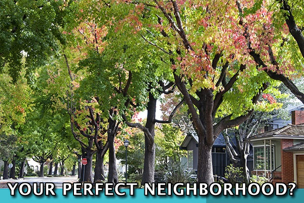 A Neighborhood with the words Your Perfect Neighborhood?
