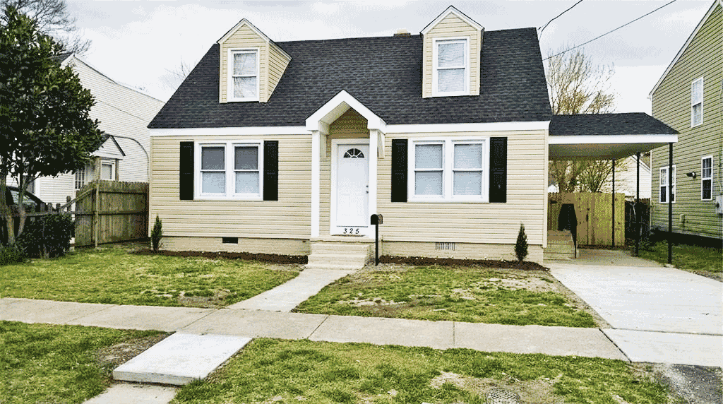 Front of property located at 325 E. Lorengo Ave, Norfolk Va, 23503