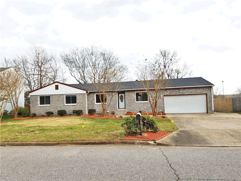 front of home located at 5143 Westerly Dr, Virginia Beach Va, 23464