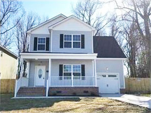 Front of home located at 366 Wheeler Ave, Hampton Va, 23661