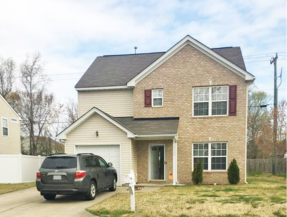 Front of house located at 5132 Winery Dr, Chesapeake Va, 23321