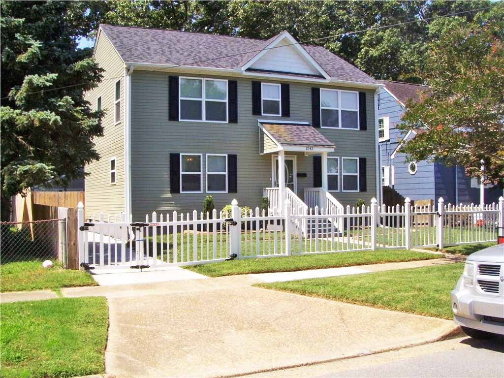 Front of home located at 1243 Virgilina Ave, Norfolk, VA 23503