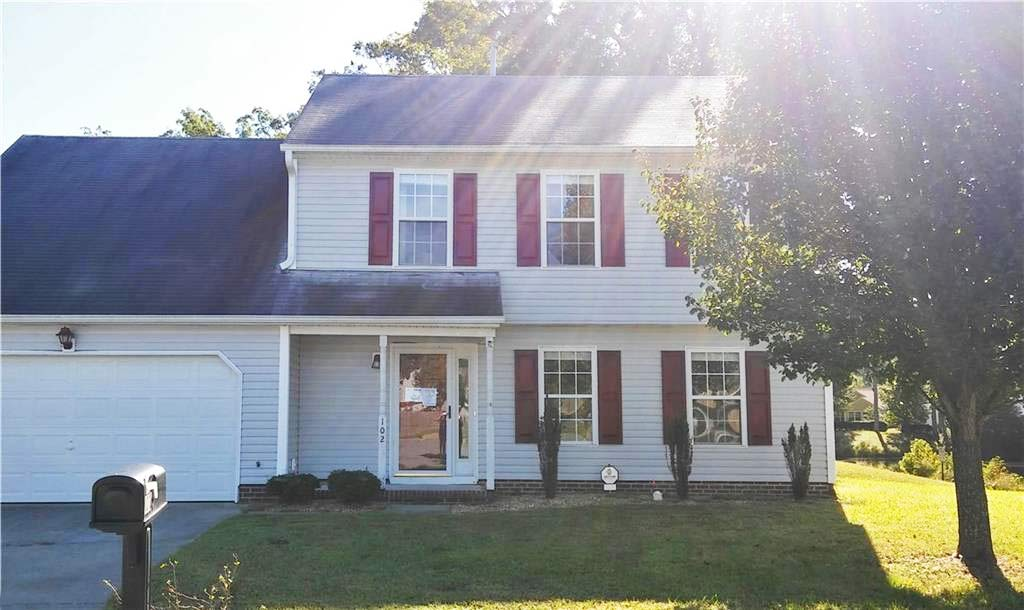 Front of house located at 102 Mcintosh Court, Suffolk VA 23434