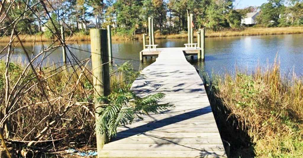 Dock located on the property located at 4204 Quailshire Court, Chesapeake VA 23321