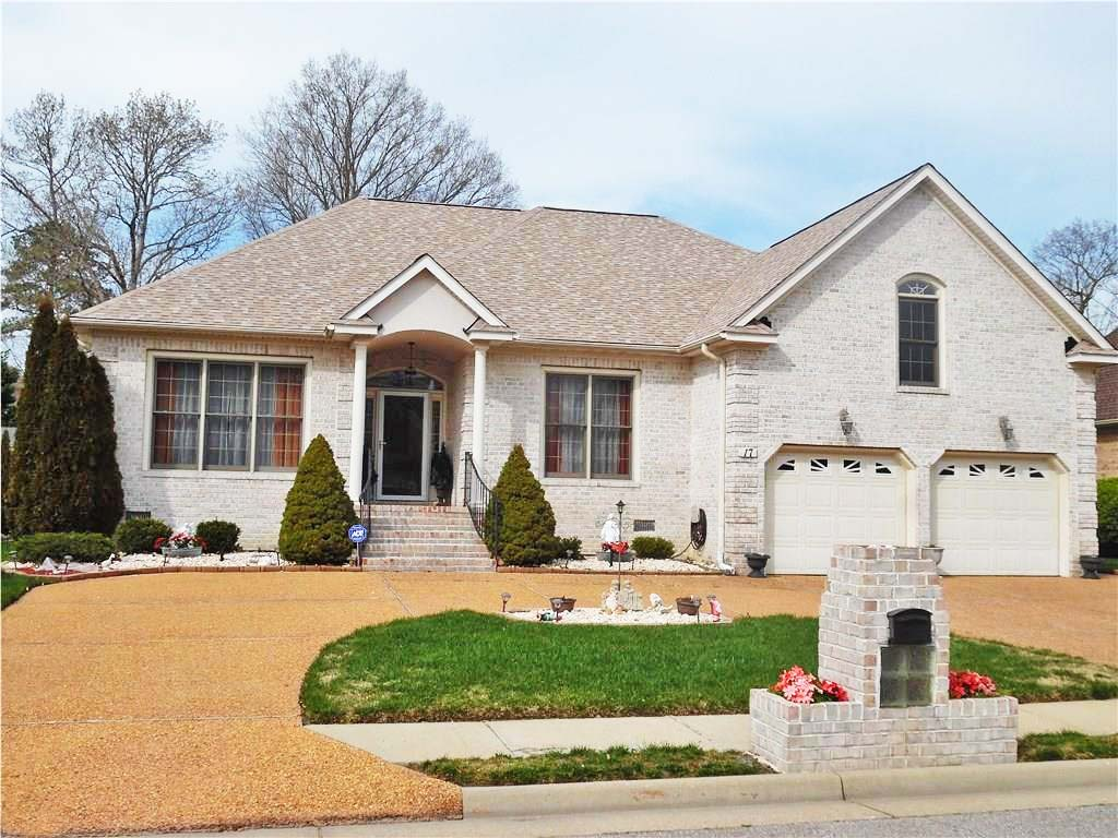 Front of house located at 17 Castle Haven Road, Hampton VA 23666