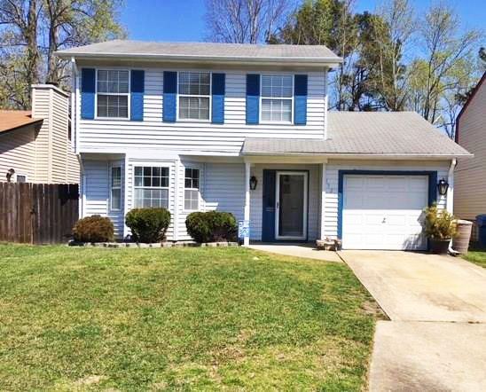 Front of house located at 1324 Crane Crescent, Virginia Beach VA 23454