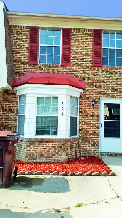 Front of condo located at 3354 Bangor Crescent, Chesapeake, Virginia 23321