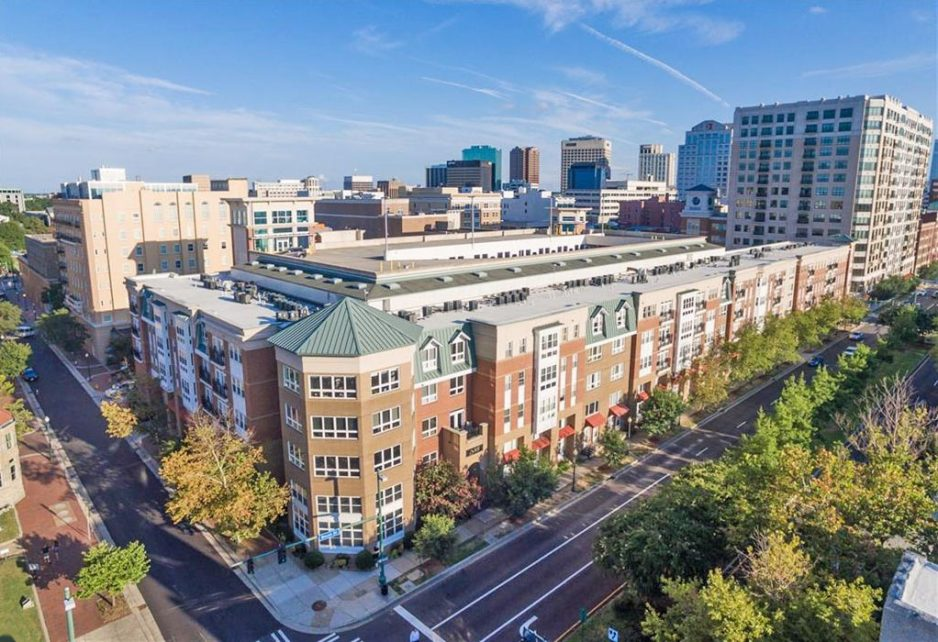 Aerial of building located at 388 Boush Street Unit#220, Norfolk, VA 23510