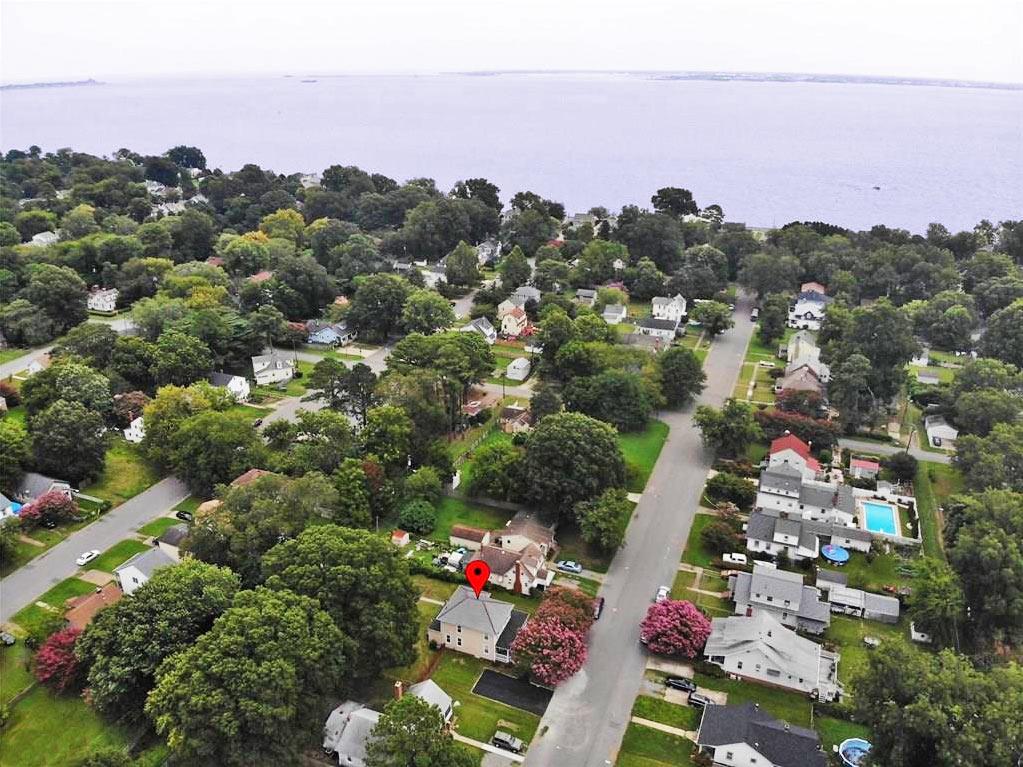 Aerial View of the area near 124 Locust Avenue, Hampton, Virginia 23661