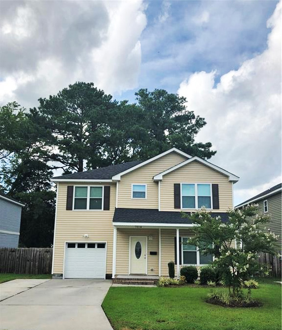 Front of property located at 701 Summers Place Unit #B, Portsmouth, Virginia 23702