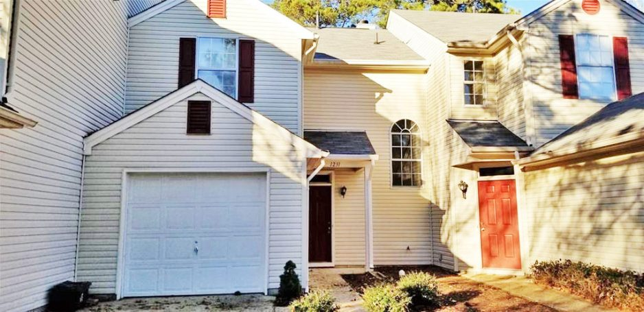 Front of Condo Located at 1231 Mill Pond Court, Newport News, Virginia 23602