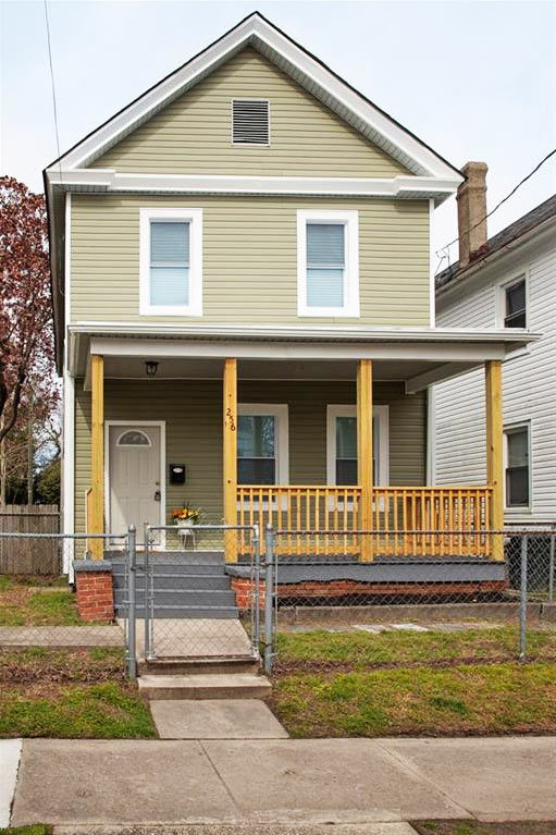 Front of property located at 256 Lee Street, Hampton, Virginia 23669