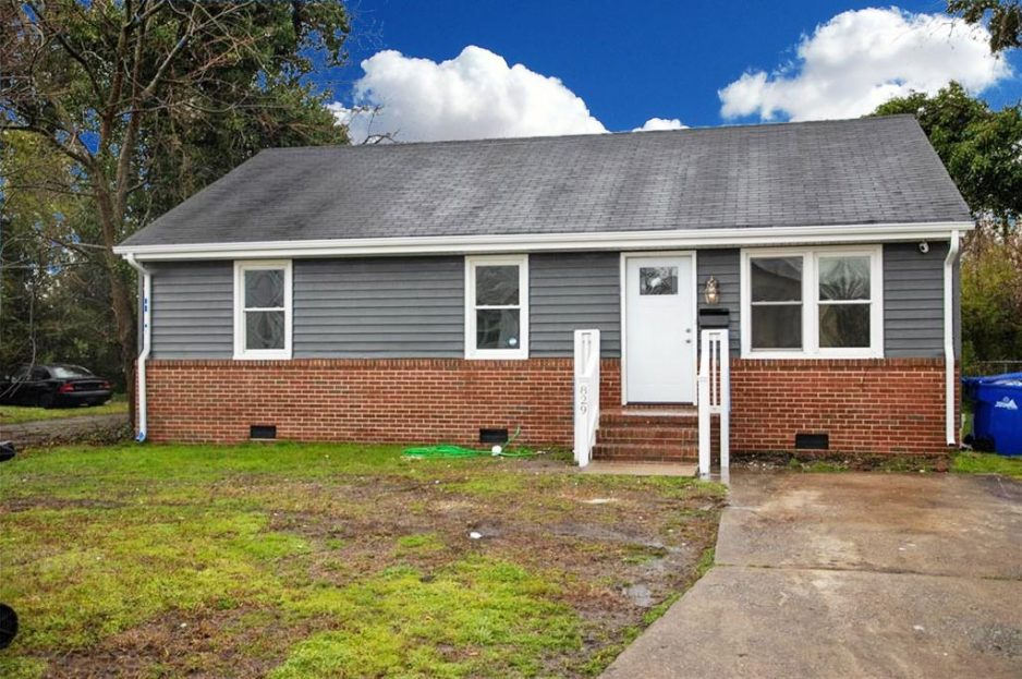 Front Of Property Located At 829 Nelson Street, Portsmouth, VA 23704