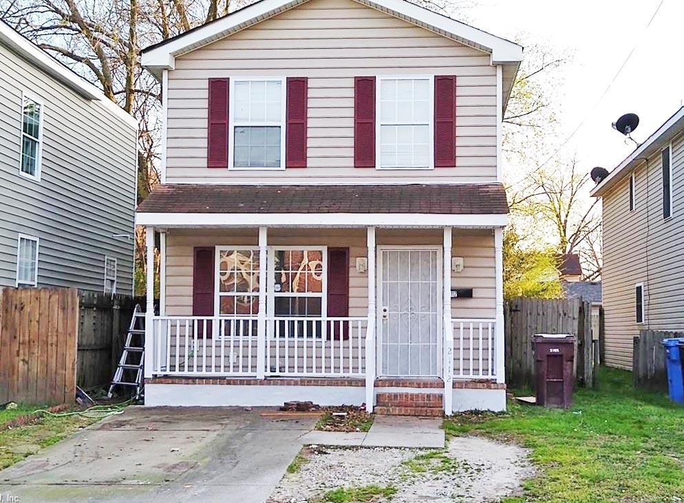 Front of property located at 2112 Berkley Avenue, Chesapeake, Virginia 23324