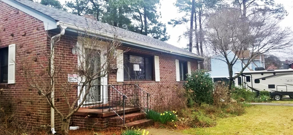 Front of property located at 3806 Caroline Avenue, Portsmouth, VA 23701