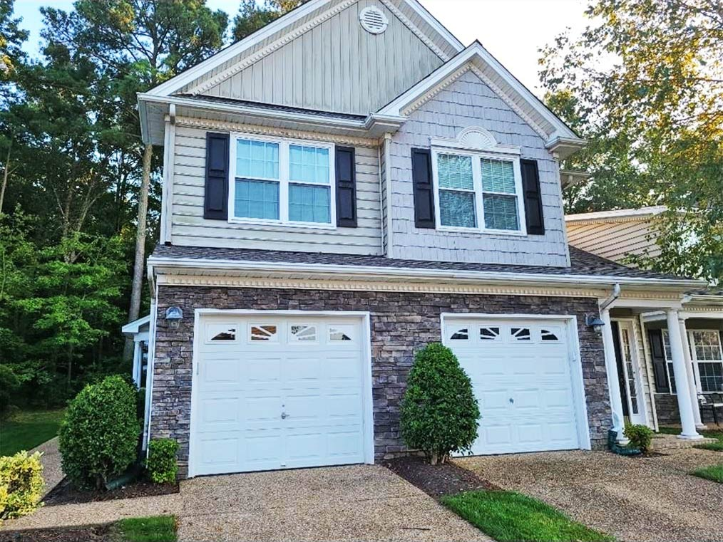 Front of condo located at 2701 Waters Edge Lane, Suffolk, Virginia 23435