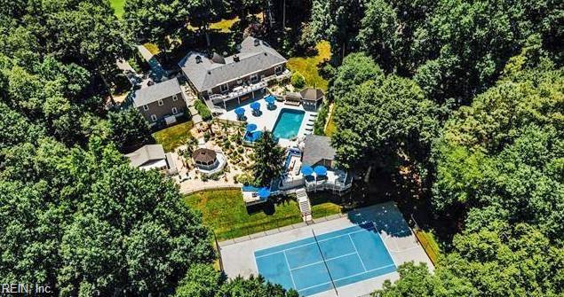 Aerial View of property located at 10998 Brookhollow Court, Glen Allen, Virginia 23059