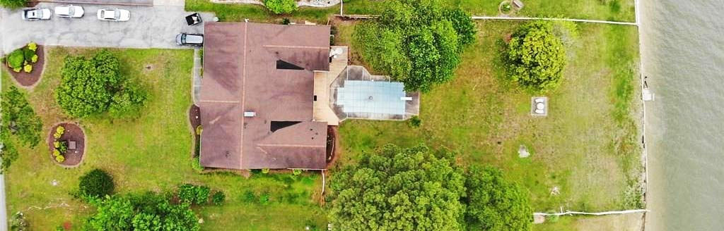 Aerial view of property located at 5568 York Haven Lane, Gloucester, Virginia 23061