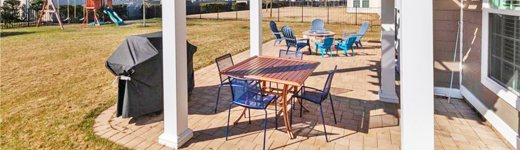 Patio of property located at 5205 Finchley Lane, Virginia Beach, VA 23455