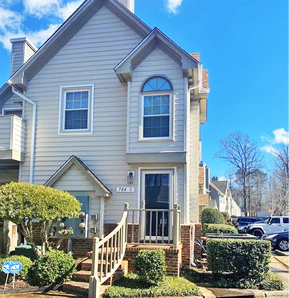 Front of condo located at 704 Rapidan River Court Unit #C, Chesapeake, Virginia 23320