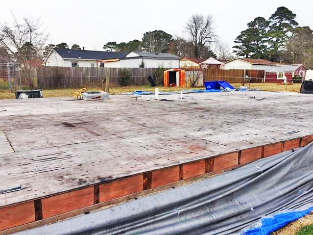 Foundation of property located at 1120 Alcindor Road, Portsmouth, VA 23701