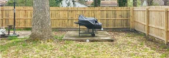 Yard of property located at 1103 Bethel Road, Chesapeake, Virginia 23324