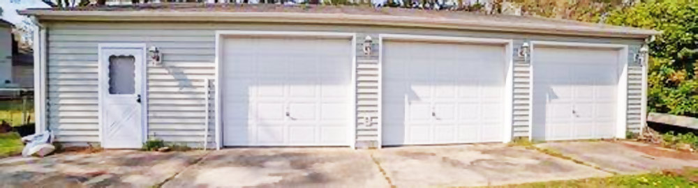 Garage of property located at 2421 Ambler Avenue, Norfolk, Virginia 23513
