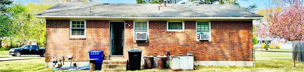 Back of house located at 904 Chumley Road, Portsmouth, Virginia 23701