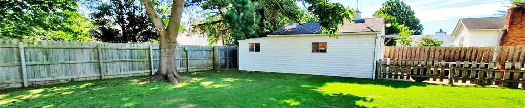 Back Yard of property located at 1806 Broadfield Road, Norfolk, VA 23503