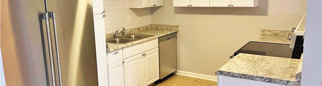 Kitchen of condo located at 396 Circuit Lane Unit D, Newport News, VA 23608