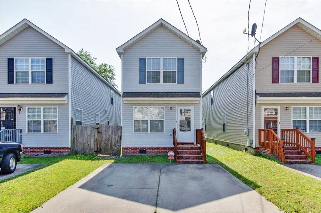 Front of house located at 1445 Oliver Avenue, Chesapeake, Virginia 23324