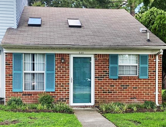 Front of property located at 638 Hollomon Drive, Hampton, Virginia 23666