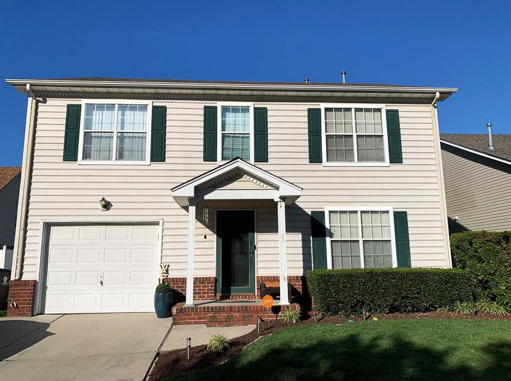 Front of property located at 2413 Burford Lane, Chesapeake, Virginia 23325