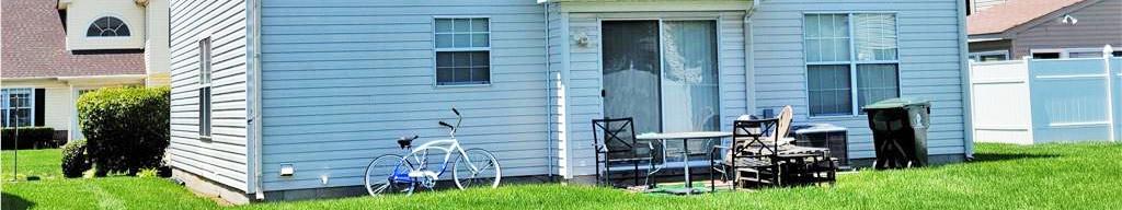 Back yard of property located at 2413 Burford Lane, Chesapeake, Virginia 23325