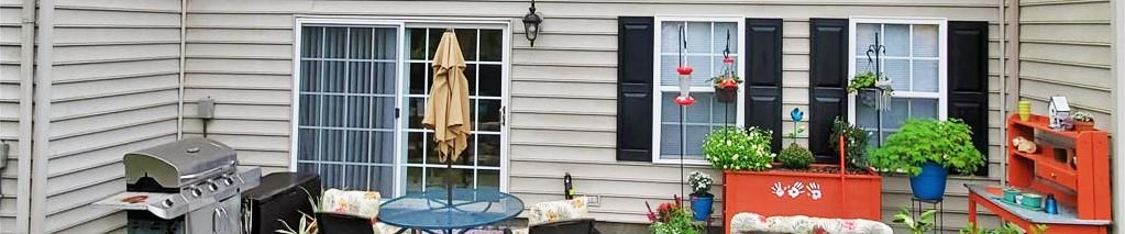 Back yard of property located at 1705 Gunston Drive, Suffolk, VA 23434