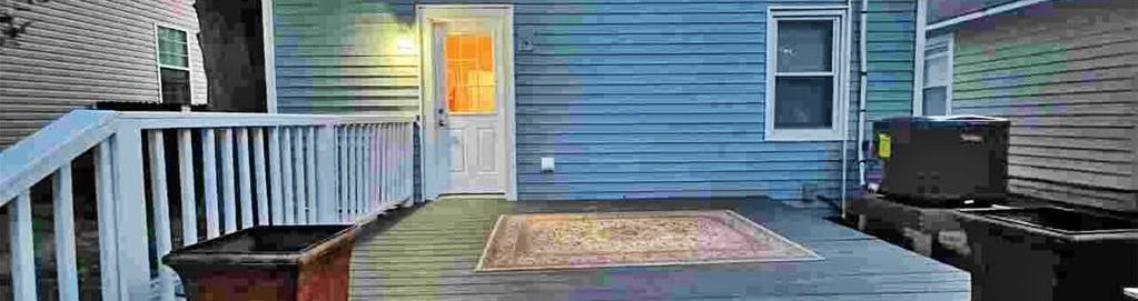 Back yard of property located at 2818 Victoria Avenue, Norfolk, Virginia 23504