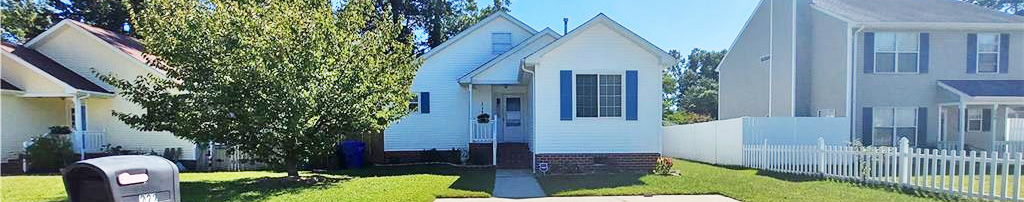 Front of property located at 222 Abingdon Court, Suffolk, Virginia 23434